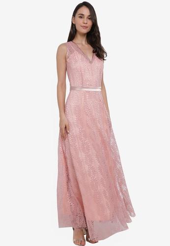 Megane pink Red Romance Courtney Lace Dress D879CAA8A7E2EBGS_1