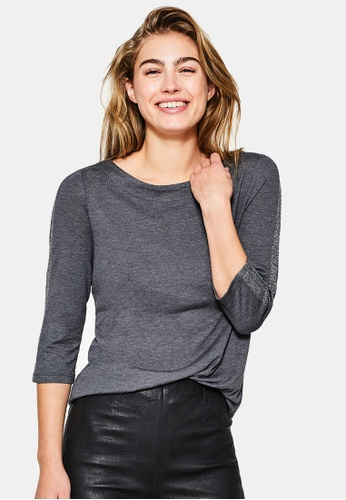 Esprit grey 3/4 Sleeve T-Shirt ES374AA0SAZKMY_1