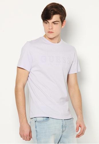 Guess purple Guess Men's Short Sleeve Logo Tee Shirt AD9D0AA03A2012GS_1