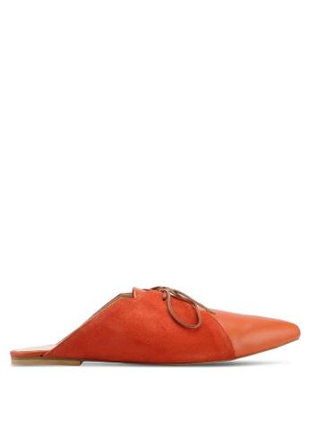 OCEEDEE orange Amelie Lace Up Flats DD1DASH5A2EAAFGS_1