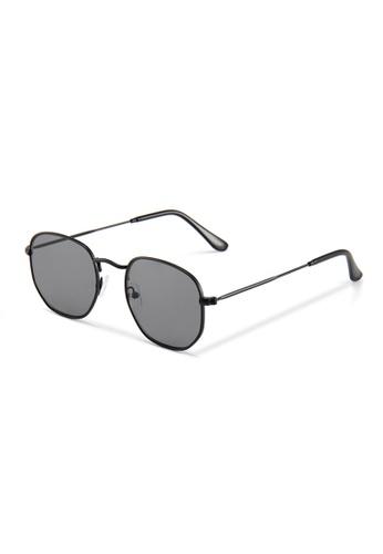 Quattrocento Eyewear Quattrocento Eyewear Italian Sunglasses with Black Lenses Model Mancini 50C10GL7E4E117GS_1