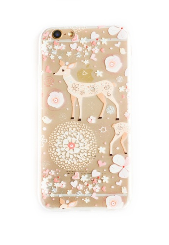 Fancy Cellphone Cases multi Deer Soft Transparent Case for iPhone 6/6s FA644AC32PWLPH_1