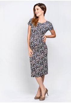 b8cb61826d 9months Maternity navy Navy Perfect Fit Midi Maternity Dress  1F7E5AA38B5F96GS_1