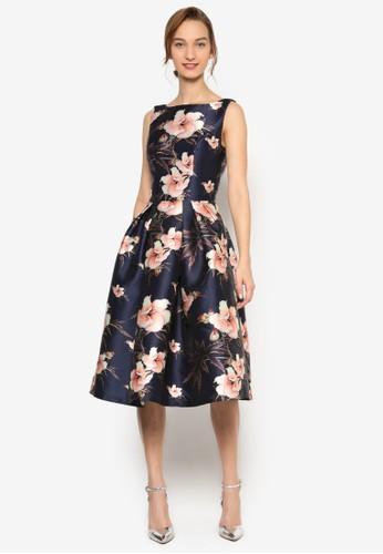 Chi Chi Beth 印花修身寬鬆裙擺無袖洋尖沙咀 esprit裝, 服飾, 洋裝