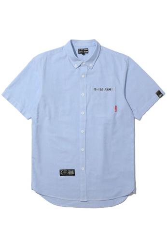 izzue blue Army pocket shirt F6B48AA0B3B40FGS_1