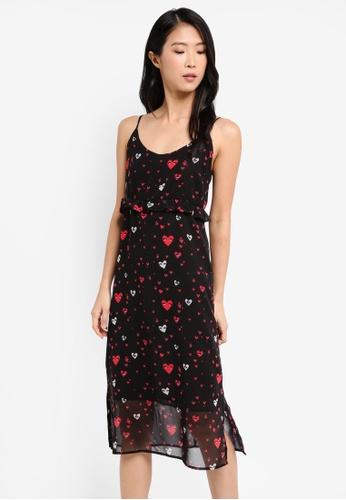 Mango black Printed Chiffon Dress DB1AAAA36554D0GS_1