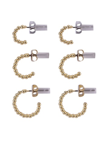 Pieces gold Bia Hoop Earrings 599EFAC8E25C09GS_1