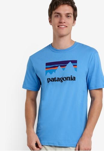 Patagonia blue Shop Sticker T-Shirt PA549AA82XAZMY_1