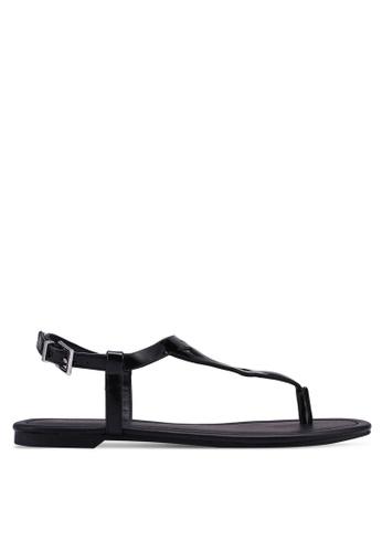 Call It Spring black Vernata Flat Sandals E6DF9SH3B7DA0FGS_1