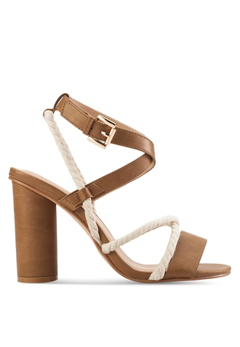 ZALORA brown Rope High Heel Sandals 0FCBFSH498B915GS_1