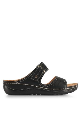 Alfio Raldo black Strappy Sandals 69FC0SH3A9EE2CGS_1
