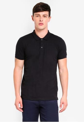 Brave Soul black Short Sleeve Polo Shirt A05E8AAD87EC86GS_1