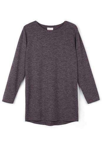 Gen Woo purple Aubergine long sleeve t-shirt by Gen Woo F678AKA76420D8GS_1