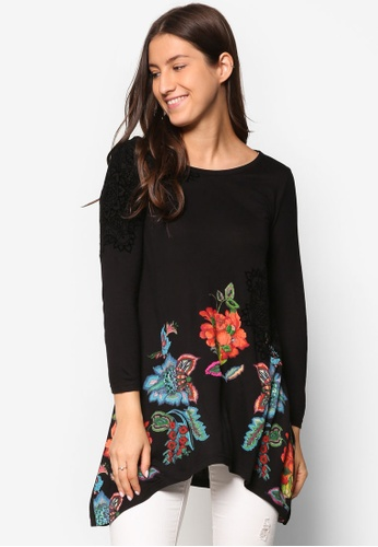 Desigual black Ramona Long Sleeve Blouse DE160AA43FBKMY_1