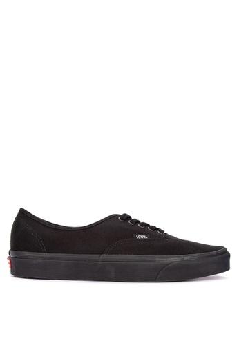 Vans black Authentic Lace-Up Sneakers 6C244SH3E9A511GS_1