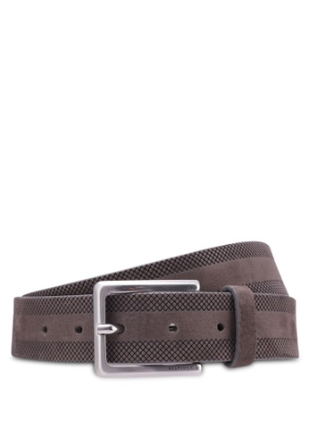 Tommy Hilfiger grey STRUCTURE STP BELT 3.5CM TO861AC0SYH3MY_1