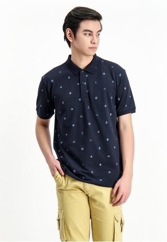 BENCH blue Full Print Polo Shirt 930FBAA357C7FAGS_1