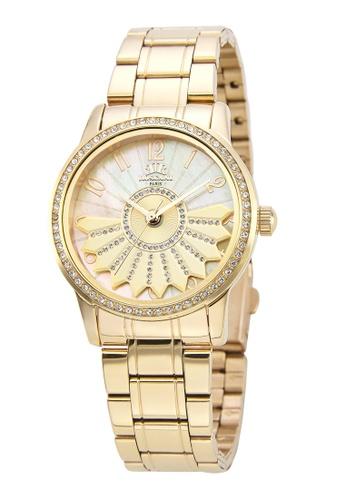 Roscani 金色 Roscani Marie E33 (360度旋轉 + 暗紋錶面) 金 不銹鋼錶帶 女表 D804AACA5BB5D1GS_1