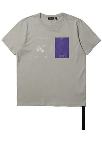 Fivecm beige Graphic print tassel tee BF5D1AA2A0FABCGS_1