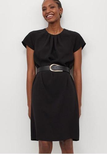 H&M black Belted Dress 02DAEAA280DD27GS_1
