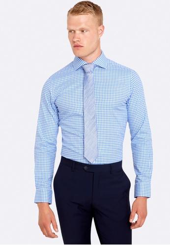 Oxford blue Trafalgar Checked Shirt OX512AA0HB30SG_1