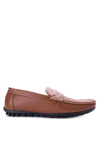 H2Ocean brown Quinlan Loafers H2527SH0J089PH_1
