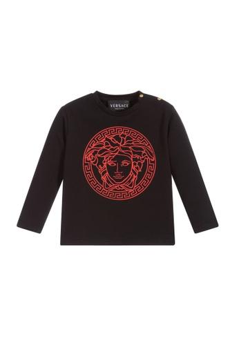 Versace black and red VERSACE BABIES LONG SLEEVE T-SHIRT 1DE4DKA59D24EBGS_1