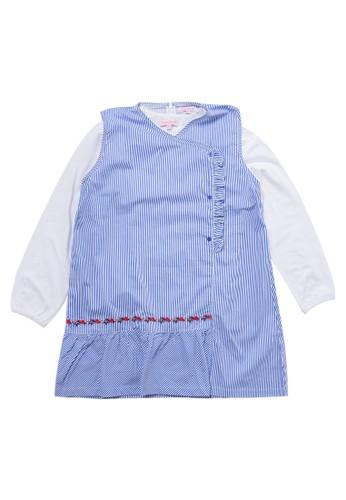 Cardinal Kids navy Set T-Shirt & Overall 372DDKAB24A47EGS_1