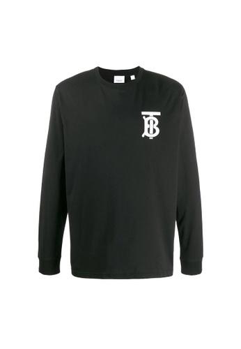 BURBERRY black Burberry Long Sleeve Monogram Motif T-Shirt in Black 457D6AA8D2DD3FGS_1