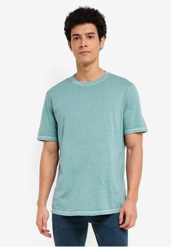 MANGO Man green Essential Cotton-Blend T-Shirt 2D9A8AAFEDACB2GS_1