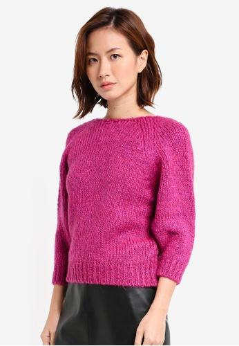 Mango purple Crossover Sweater MA193AA0T0X1MY_1