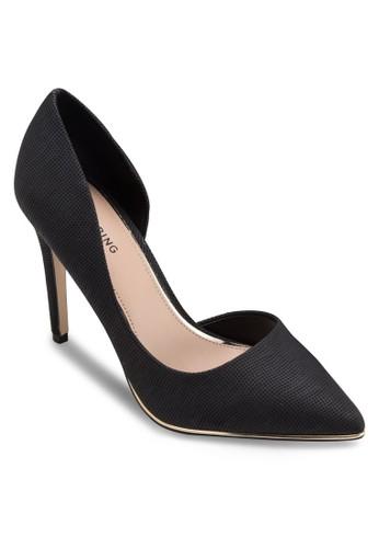 Malesprit門市igny 尖頭側鏤空高跟鞋, 女鞋, 鞋
