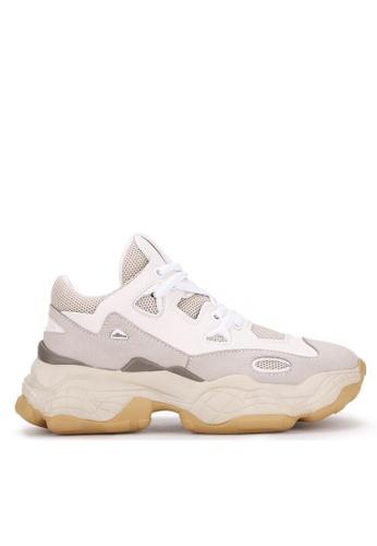 Twenty Eight Shoes 真皮厚底弧線形運動鞋B48 69AE3SH5BD9FCAGS_1