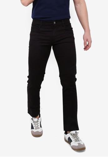 MANGO Man black Slim-Fit 5 Pocket Cotton Trousers 71691AAE317A44GS_1