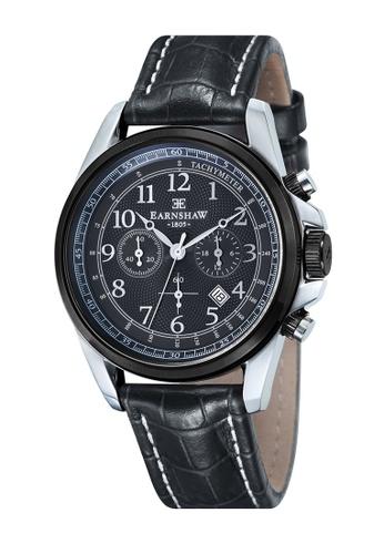 Thomas Earnshaw black Thomas Earnshaw COMMODORE ES-8028-07 Men's Black Genuine Leather Strap Watch F9B17AC3E2BAC5GS_1