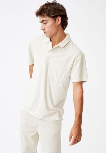 Cotton On white Textured Polo Shirt D1EA7AAD6BA246GS_1