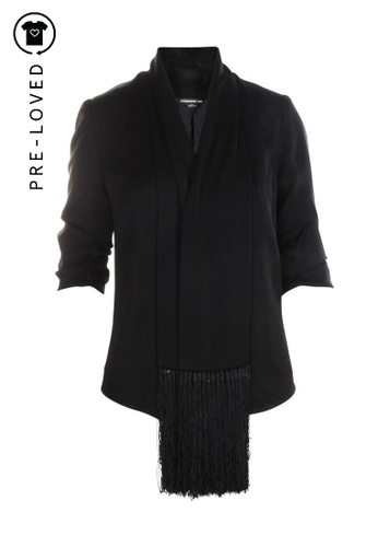 ALEXANDER WANG black Pre-Loved alexander wang Black Jacket With Pompoms B7F16AA809285DGS_1