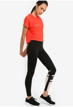 d8172e16439292 Reebok WOR Meet You There Graphic Panel Tights S$ 55.00. Sizes XS S M L XL