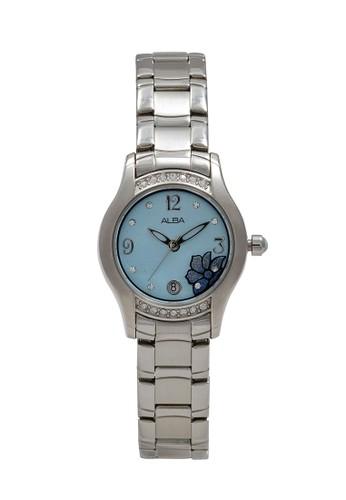 Alba silver ALBA Jam Tangan Wanita - Silver Blue - Stainless Steel - AXT375 C6D32AC8EA3193GS_1