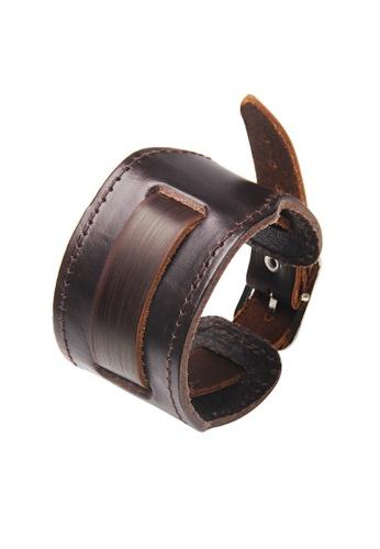 HAPPY FRIDAYS Wide Vintage Leather Cuff Wrap Bracelet QNW2458 6320FACF20DA98GS_1