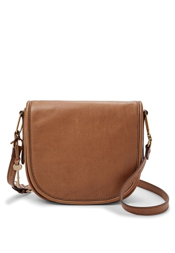 Fossil Brown Rumi Leather Sling Bag Ffbb1acde0795fgs 1