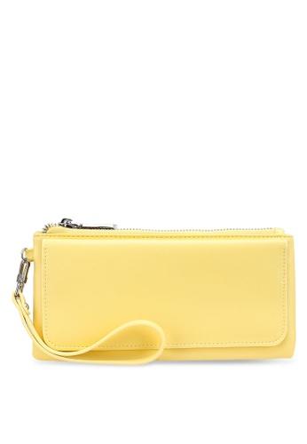 nose yellow Plain Long Wallet 927A1AC6DF7826GS_1