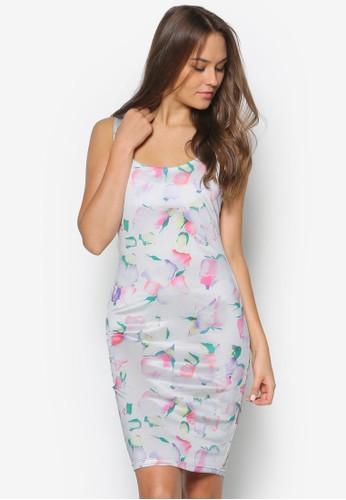 花卉肩帶連esprit 床上用品身裙, 服飾, 洋裝