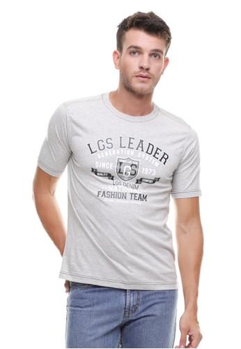 LGS grey LGS - Regular Fit - Kaos Casual - Sablon Teks - Abu LG695AA0VG2KID_1
