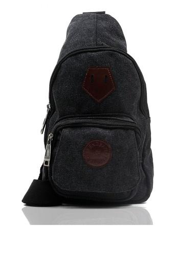 Attraxion Men's and Accessories black Attraxion Howell 813-14 Crossbody Bag 0A546ACADA8DF8GS_1