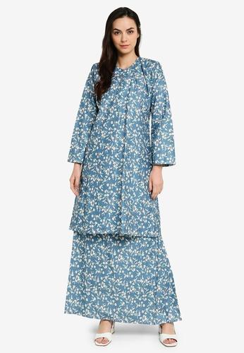 Butik Sireh Pinang blue Baju Kurung Pahang Syasya C7FB5AAA700D0DGS_1