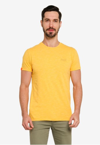 Superdry yellow Orange Label Vintage Embroidery Crew Tee 718AAAA5E20940GS_1