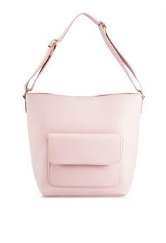 Medium Size Shoulder Bag With Front Pocket Detail