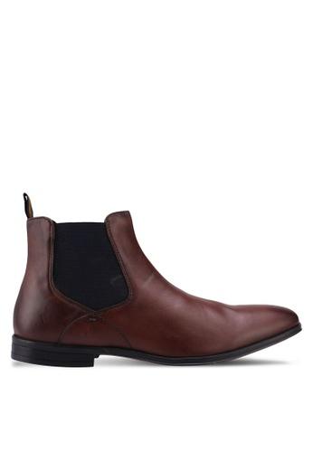 Burton Menswear London brown Brown Leather Chelsea Boots AC9C9SH4D98794GS_1