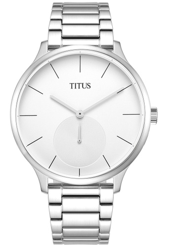 Solvil et Titus white and silver Unisex Analogue Quartz Watch in White Dial and Stainless Steel Metal Bracelet SO598AC0GNQ6SG_1
